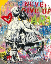 Work Well Together by Mr Brainwash - Original on Paper sized 16x20 inches. Available from Whitewall Galleries